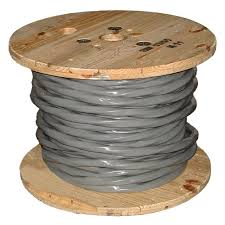 southwire by the foot 2 2 2 4 gray stranded al ser cable