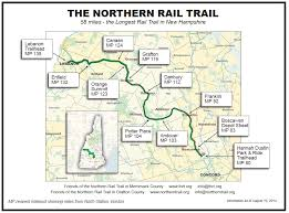 northern map map of the northern rail trail of the northern rail trail