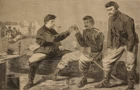 thanksgiving day in the army after dinner the wishbone 1864