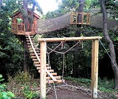 backyard zip line without trees home outdoor decoration