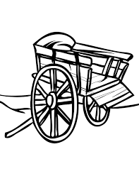 cart coloring page handipoints