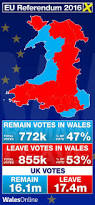 Map Of Wales And England by The Full Eu Referendum Results Map For Every Area In Wales Wales