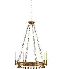 Antique Brass Chandelier Visual Comfort Sr5020hab John Rosselli Natalya 8 Light 35 Inch