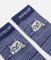Rip Navy - rip n dip peeking nermal socks navy flatspot