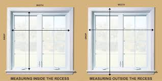 Blinds For Windows With No Recess - window blinds installation how to measuring accurately roy home