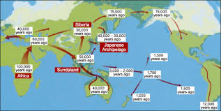 map of america 20000 years ago japanese and their genetic heritage facts and details