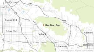 map of burbank ca brush that forced evacuations in burbank is mostly contained