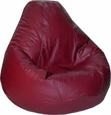 furniture cozy picture of red leather bean bag chairs for adults