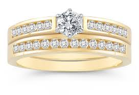 Engagement Wedding Ring Sets by 1 2 Carat Diamond Wedding Ring Set 14k Yellow Gold
