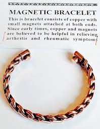 magnetic bracelet with copper images Magnetic copper cuff bracelet twisted rope arthritis natural cure jpg
