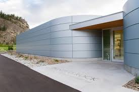 alucobond acm painted rock estate winery tasting room photo by