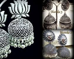 Buy Tribal German Silver Jhumka Silver Jhumkas Etsy