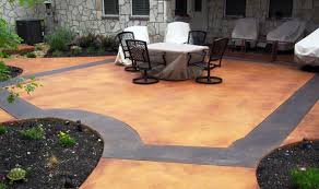 Backyard Stamped Concrete Ideas Concrete Patios Concreteideas