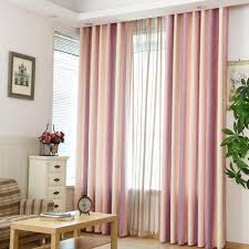 designer curtains for bedroom pink striped jacquard linen cotton blend modern curtains for bedroom