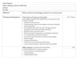 Sample Resume For Medical Technologist by Medical Sample Resume Resume For Your Job Application