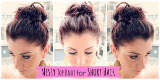 messy bun for medium hair tutorial women medium haircut
