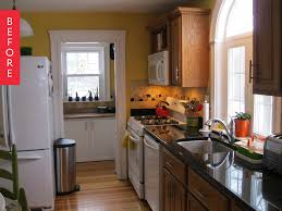 How To Update A Galley Kitchen Before U0026 After A Modern Update For A Galley Kitchen Apartment