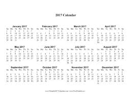 print calendars for 2017 printable 2017 calendar one page with large print
