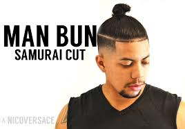 length hair neededfor samuraihair samurai top knot man bun with skin fade youtube