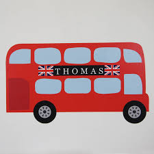 personalised childrens bus wall stickers by parkins interiors personalised childrens bus wall stickers