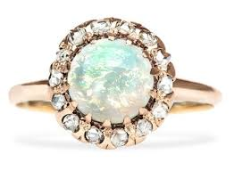 vintage opal engagement rings vintage opal diamond gold halo engagement ring engagement rings