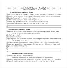 sle bridal shower checklist 8 documents in pdf