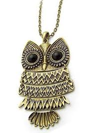 long owl pendant necklace images The trendy trendz owl fashion necklace for women amazon in jewellery jpg