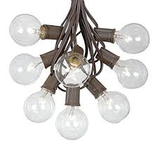 globe string lights brown wire amazon com g50 patio string lights with 125 clear globe bulbs