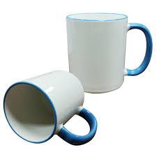 personalized mug w colored rim and handle u2013 mg custom printing