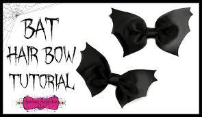 halloween bow ties bat hair bow tutorial halloween hair bow hairbow supplies etc