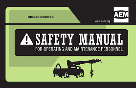 aem updates digger derrick safety manual equipment world