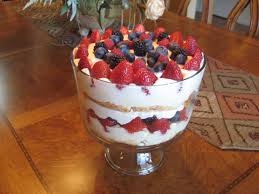 fresh berry trifle layer sara lee pound cake or store bought