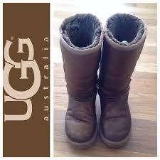 s ugg boots ugg ugg metallic bronze distressed leather boots s 6 from