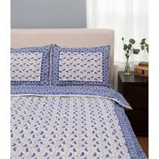 King Size Coverlet Sets Handmade Dreams In India Indigo Vine King Size Coverlet Set India