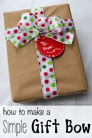 how to make a simple gift bow gift bow christmas gifts and gift