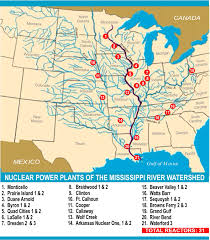 Map Of The Mississippi River Nuclear Reactor Map Radioactive Releases From The Nuclear Power