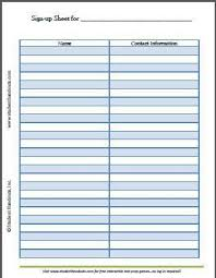 printable sign up sheets sign up sheets 60 free word excel pdf