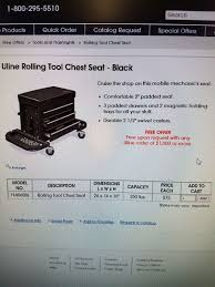 uline rolling tool cabinet brand new uline rolling tool chest seat red clothing shoes in