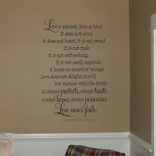 simple decoration love is patient kind wall art nobby design ideas