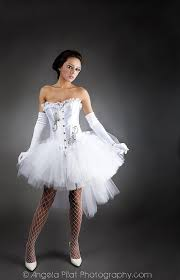 White Corset Halloween Costumes Custom Size White Tulle Burlesque Corset Prom Dress Tulle
