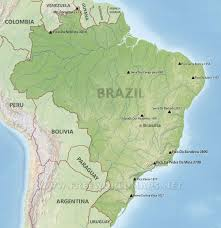 South America Physical Map Brazil Physical Map