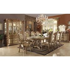 acme vendome china cabinet in gold patina u0026 bone ac 63005 for