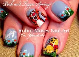 winnie pooh u0026 tigger nails cute spring nail art design