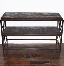 Sofa Console Tables by Sofa Console Table In Metal Frame With Rustic Wood Top And Shelf