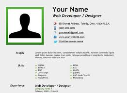 Make Resume Online Free No Registration by 25 Free Html Resume Templates For Your Successful Online Job