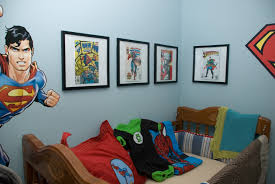 Superman Room Decor by Cute Kids Superhero Bedroom Decor Within Superman Themed