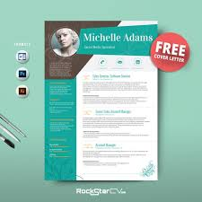 creative resume template cv cover letter 1 2 3 page free download