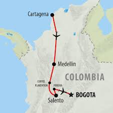 Map Of Colombia South America by Colombia Tours Holidays To Colombia On The Go Tours