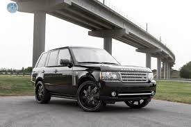 black land rover with black rims modulare wheels 2011 range rover supercharged 24