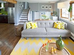 Yellow Chevron Area Rug Decorating Beautiful Living Room Ideas With Wooden Floor Plus